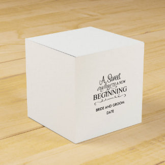 A Sweet Ending To A New Beginning Favour Box
