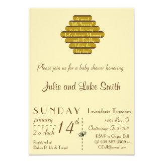 A sweet little hunny 13 cm x 18 cm invitation card
