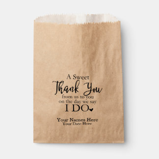 A Sweet Thank You Favour Bags, Wedding Favours Favour Bags