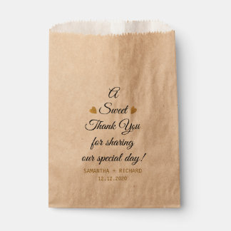A Sweet Thank You Wedding Favour Bags