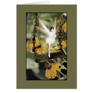 A Swing in the Garden Card
