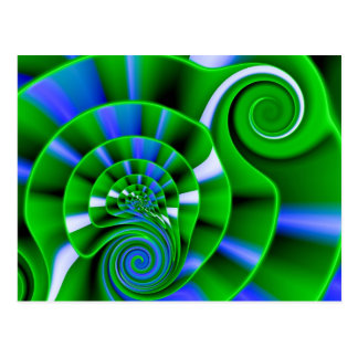 A Swirl of Growing Green Postcard
