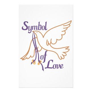 A Symbol Of Love Stationery