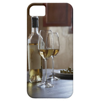 A table with bottle and two glasses of Spanish Barely There iPhone 5 Case