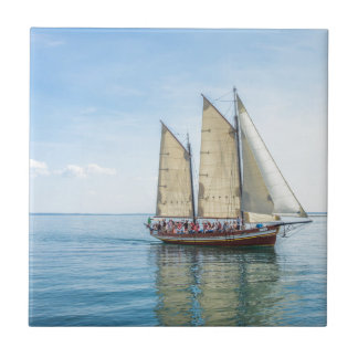 A Tall Ship Small Square Tile