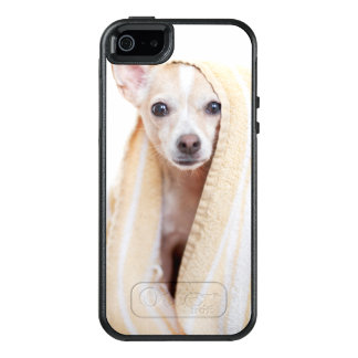 A Tan And White Chihuahua Sits Under A Towel OtterBox iPhone 5/5s/SE Case