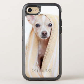 A Tan And White Chihuahua Sits Under A Towel OtterBox Symmetry iPhone 7 Case