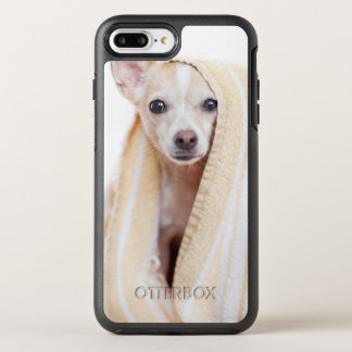 A Tan And White Chihuahua Sits Under A Towel OtterBox Symmetry iPhone 7 Plus Case