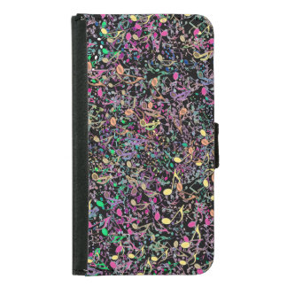 A Tangled Teeming Mass of Music Notes Wallet Case