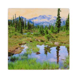 A tarn in the backcountry of Vancouver Island Wood Coaster