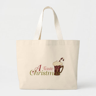 A Taste of Christmas :: Hot Cocoa w/Candy Cane Canvas Bag