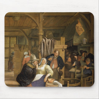 A Tavern Interior with Card Players Mouse Pad