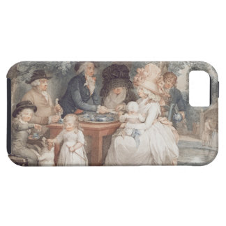 A Tea Garden, colour stipple engraving after Morla iPhone 5 Cases