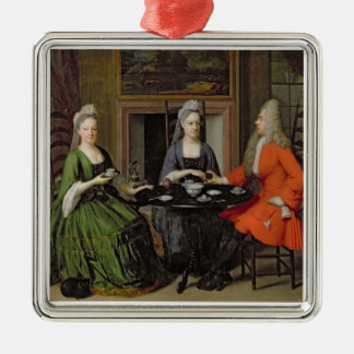A Tea Party (oil on canvas) Christmas Ornament