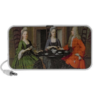 A Tea Party (oil on canvas) iPhone Speaker