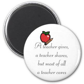 A teacher cares magnet