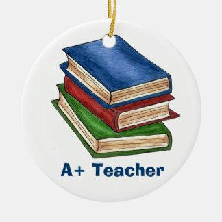 A+ Teacher Christmas Ornament