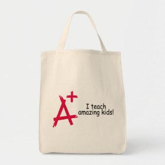 A+ Teacher Grocery Tote Bag