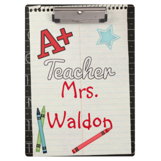 A+ Teacher Personalized Clipboard