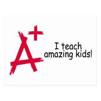 A+ Teacher Postcard