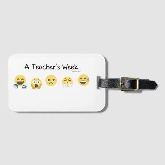 A Teacher's Week Luggage Tag with Card Slot