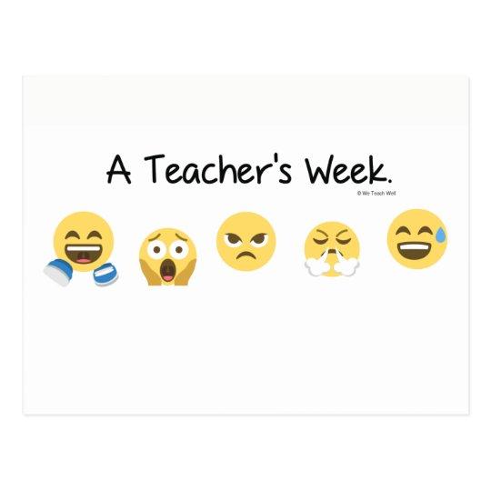 A Teacher's Week Postcard