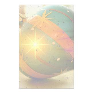 A Teardrop Shaped Christmas Ornament Stationery Design