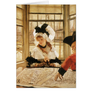A Tedious Story by James Tissot Greeting Card
