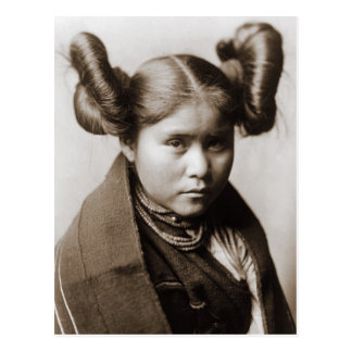 A Tewa Indian girl with fancy hairstyle Postcard