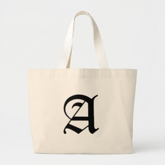 A-text Old English Large Tote Bag