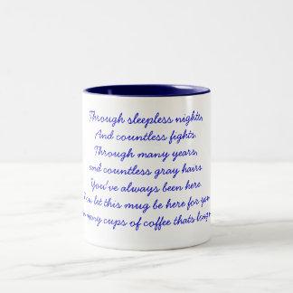 A thank you poem Two-Tone mug