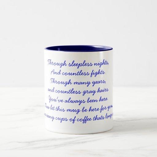 A thank you poem mugs