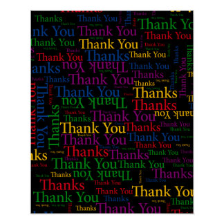 A Thankful Message To Say Thank You So Much Poster