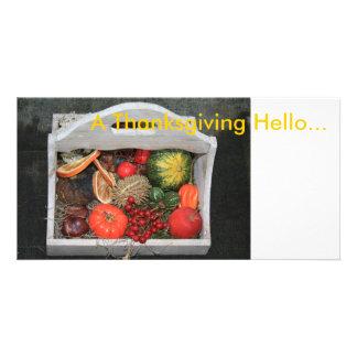 A Thanksgiving Hello Photo Greeting Card
