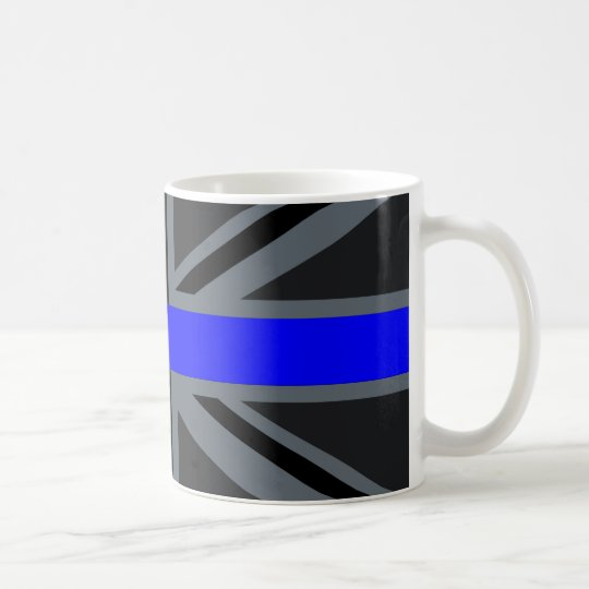 A Thin Blue Line Union Jack Coffee Mug
