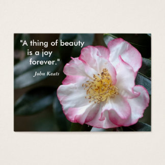 """""""A thing of beauty    is a joy  ..."""