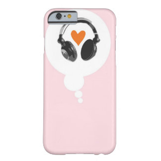 A thought bubble with a heart and headphones barely there iPhone 6 case