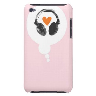 A thought bubble with a heart and headphones barely there iPod cases