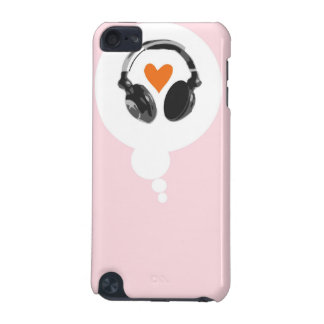 A thought bubble with a heart and headphones iPod touch 5G covers