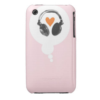 A thought bubble with a heart and headphones iPhone 3 covers