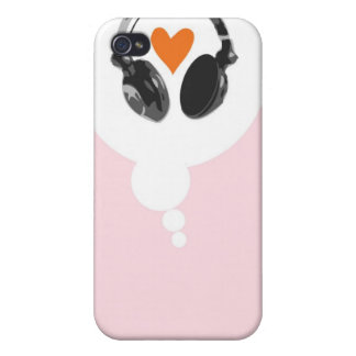 A thought bubble with a heart and heads iPhone 4 cases