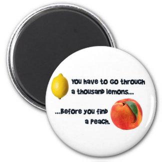 A Thousand Lemons to a Peach Magnet