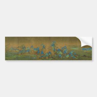 A Thousand Li of River and Mountains Wang Ximeng Bumper Sticker