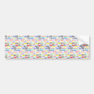 A Thousand Words - 1000 Words Background Bumper Stickers