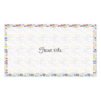 A Thousand Words - 1000 Words Background Double-Sided Standard Business Cards (Pack Of 100)