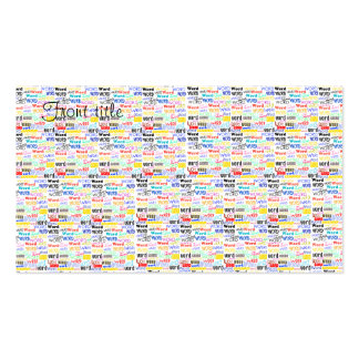 A Thousand Words - 1000 Words Background Pack Of Standard Business Cards