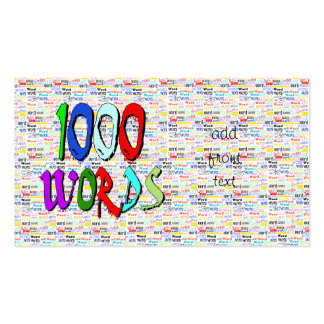A Thousand Words - 1000 Words Business Cards