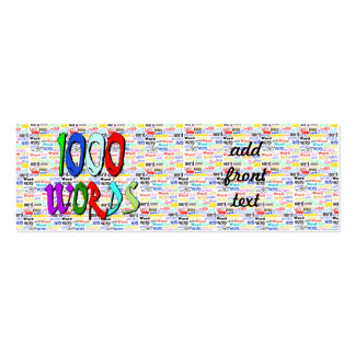 A Thousand Words - 1000 Words Pack Of Skinny Business Cards