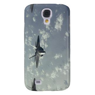 A three-ship formation of F-22 Raptors Galaxy S4 Case