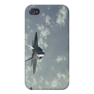 A three-ship formation of F-22 Raptors Cover For iPhone 4
